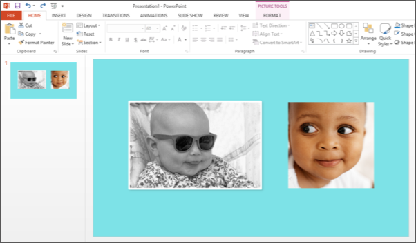 Screenshot of Microsoft PowerPoint