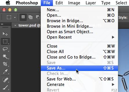 Screenshot of Adobe Photoshop