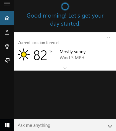 Using Cortana on Windows 10