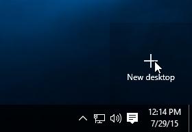 creating a new virtual desktop