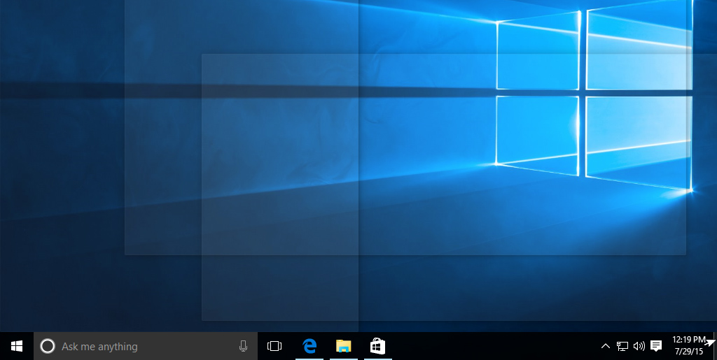 hiding open windows on the desktop