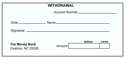 Managing a checking account tutorial at gcflearnfree use your mouse to drag and drop the parts of the withdrawal slip below or print out a to ccuart Choice Image
